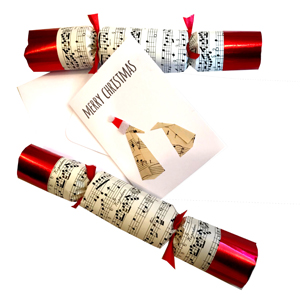 christmas crackers and card