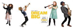 dream big - four instruments