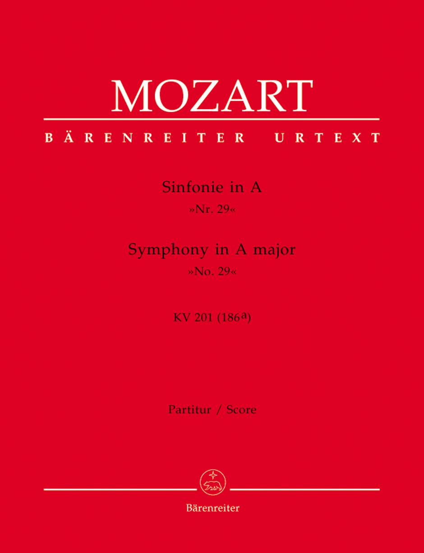 Symphony No.29 in A (K.201) (K.186a) (Urtext).