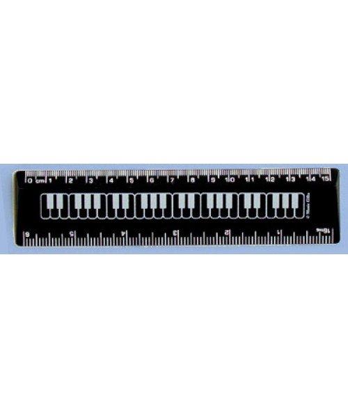 6/15CM Black Keyboard Ruler