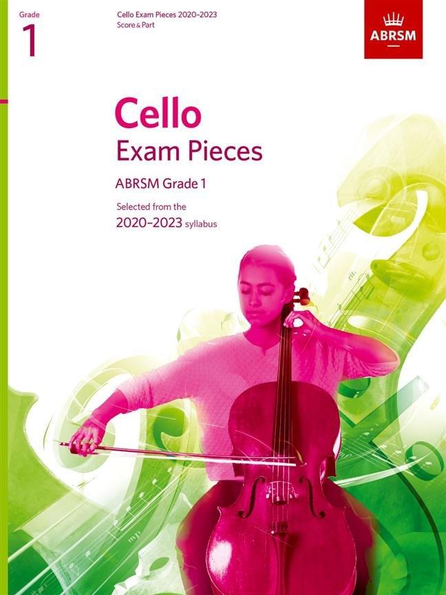 ABRSM Cello Exam Pieces Grade 1 2020 - 2023 Cello & Piano