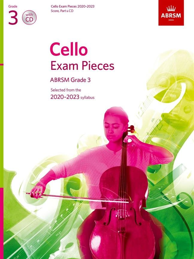 ABRSM Cello Exam Pieces Grade 3 2020 - 2023 Cello & Piano with CD