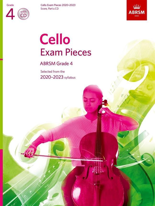 ABRSM Cello Exam Pieces Grade 4 2020 - 2023 Cello & Piano with CD