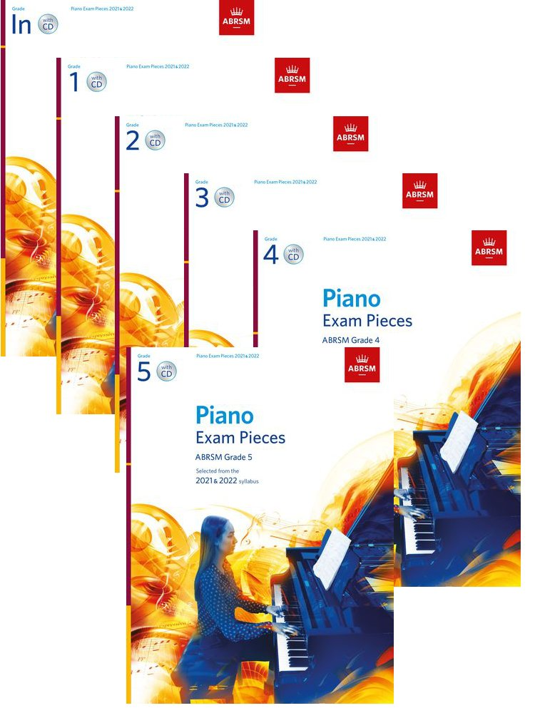 ABRSM Piano Pieces 2021 - 2022 Bundle Initial to Grade 5 with CD