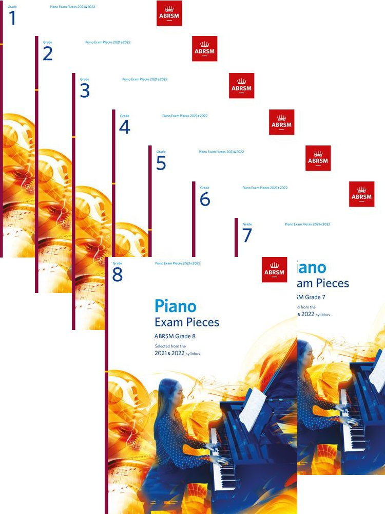 ABRSM Piano Pieces 2021 - 2022 Bundle Initial to Grade 8