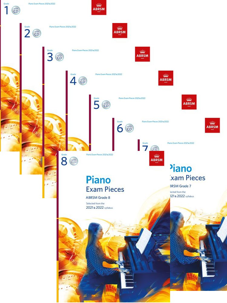 ABRSM Piano Pieces 2021 - 2022 Bundle Initial to Grade 8 with CD