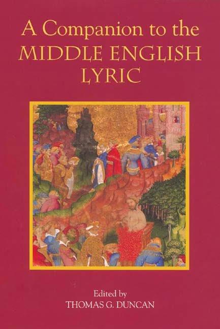 A Companion to the Middle English Lyric (hardback)
