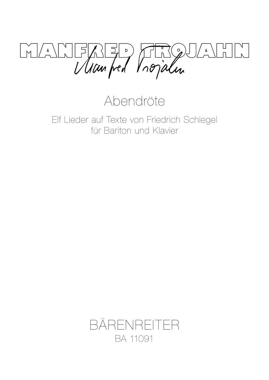 EISLER SERIOUS SONGS Ernste Gesange Baritone /& Pf
