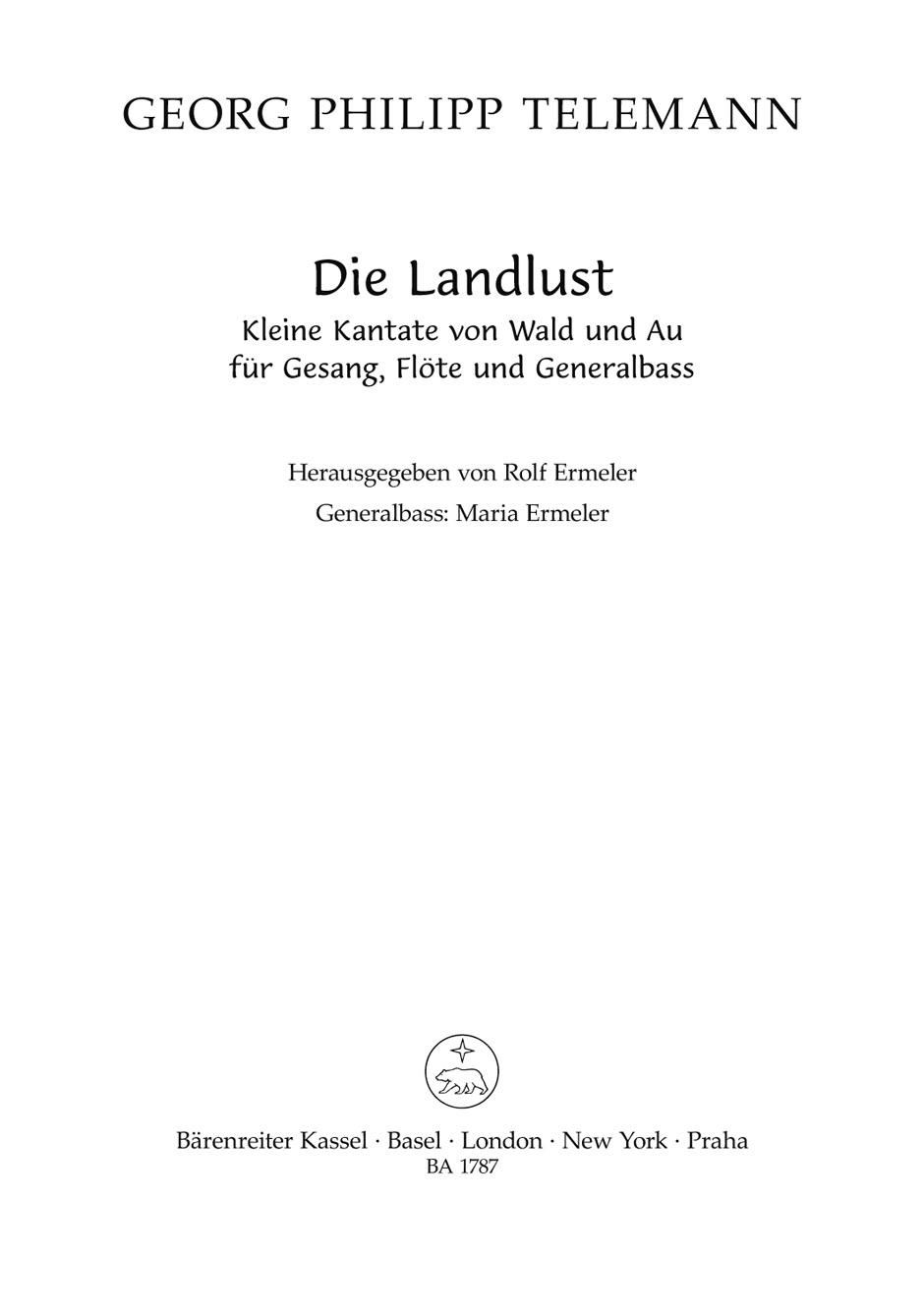 Kleine Kantate von Wald und Au (G).