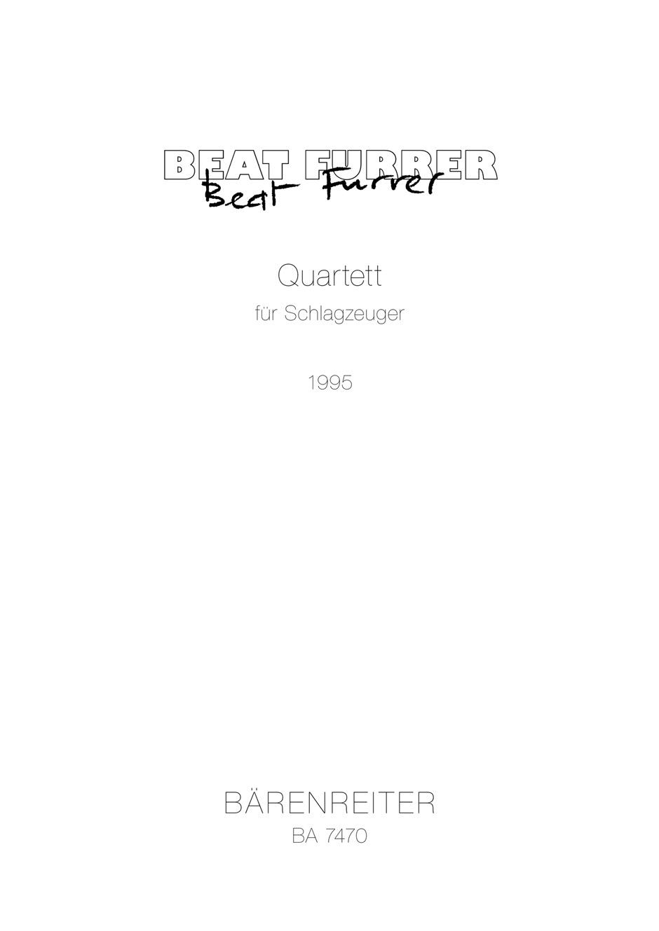 Quartet for Percussion (1995).
