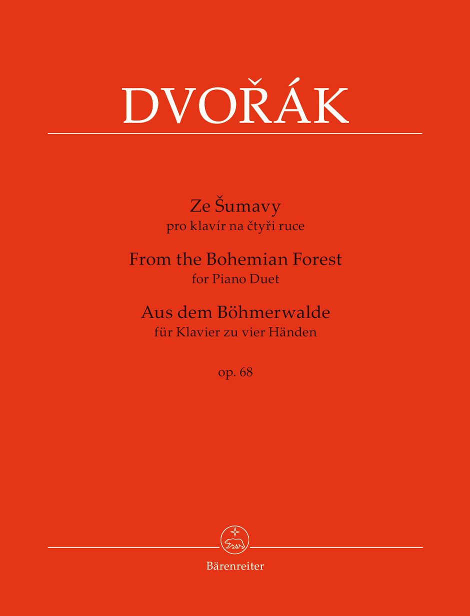 Barenreiter Urtext Score and Parts for the Dvorak From The Bohemian Forest cycle