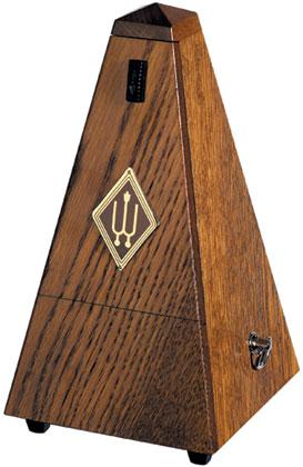 Wittner Metronome. Wooden. Brown Oak Matt Silk