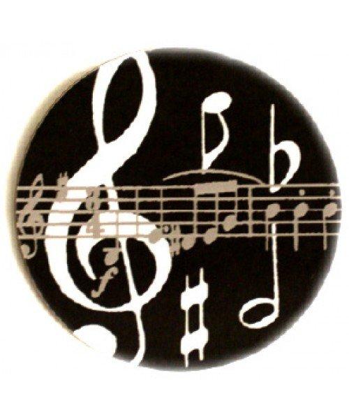 Black Music Notes Mugmat