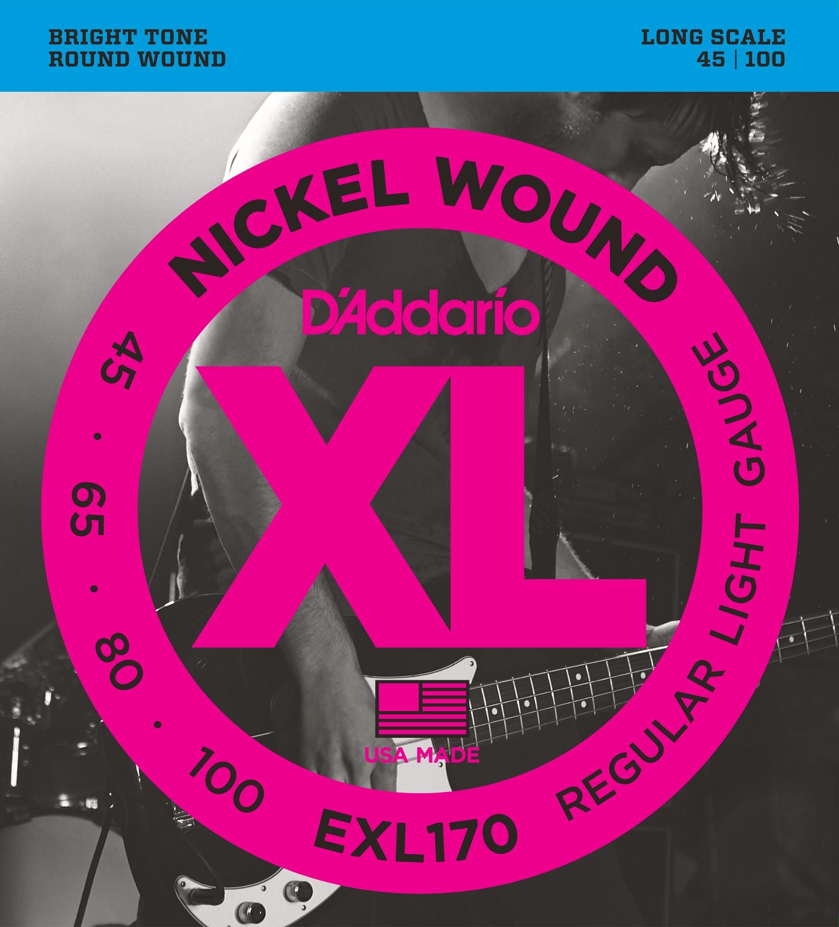 D/'Addario XLB105 Nickel Wound Bass Guitar Single String Long Scale .105