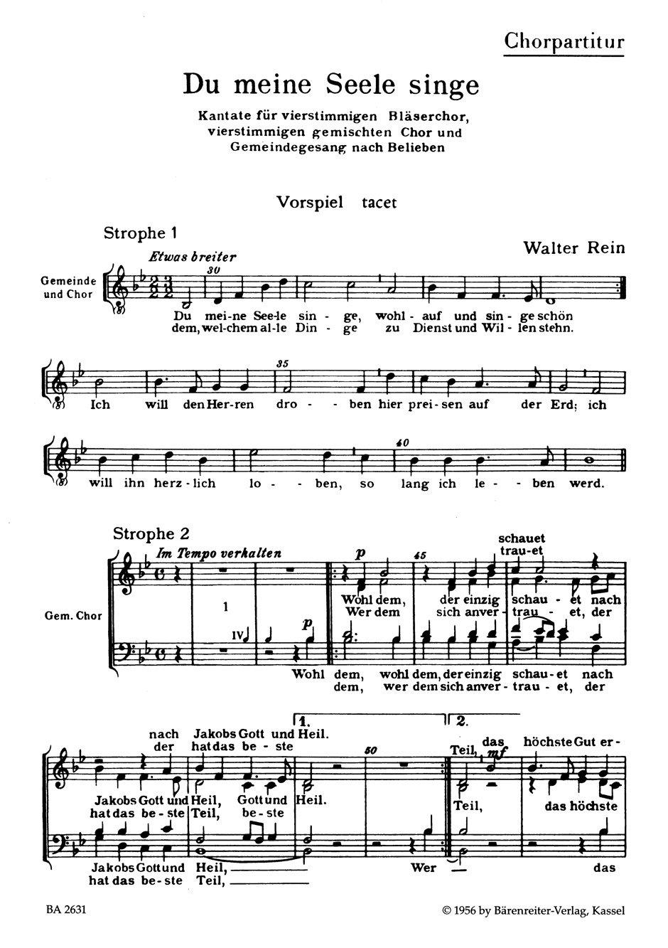 Händel Mein Lied Sing´auf Ewig Hwv 252 Ohne RüCkgabe