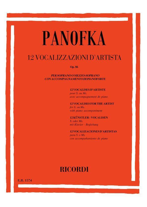 12 Vocalizzi D'Artista Op. 86