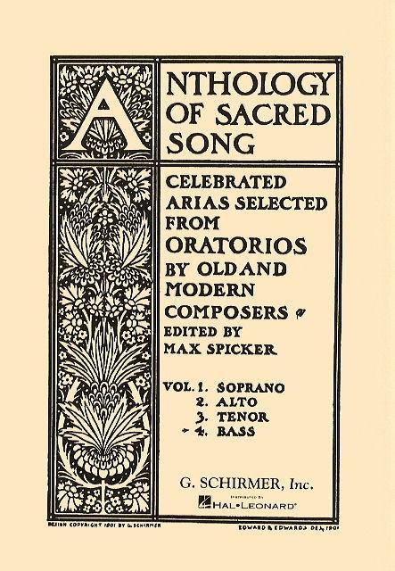 Anthology Of Sacred Song - Volume 4 (Bass)