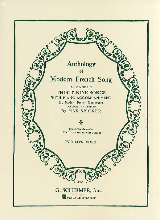 Anthology Of Modern French Song (Low Voice)