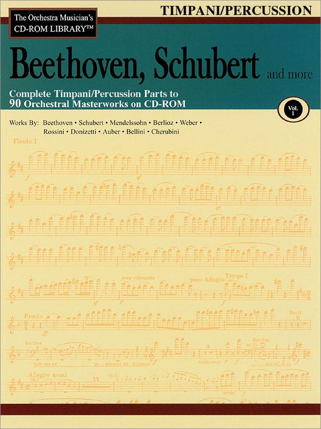 Beethoven, Schubert & More - Volume 1 - The Orchestra Musician's CD-ROM Library - Timpani/Percussion