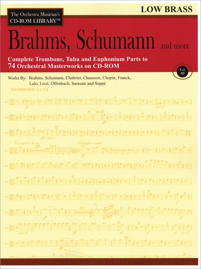 Brahms, Schumann & More - Volume 3 - The Orchestra Musician's CD-ROM Library - Low Brass