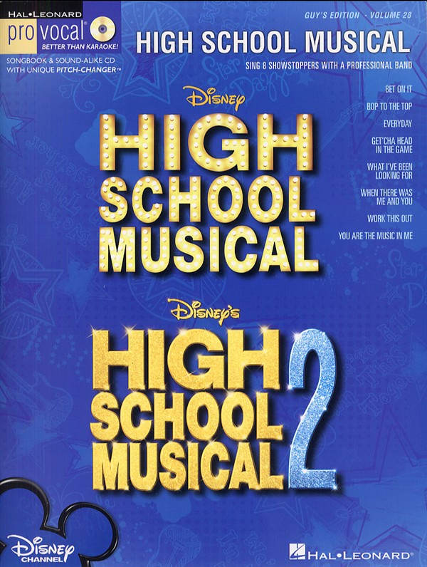 Pro Vocal Volume 28: High School Musical (Male Edition)