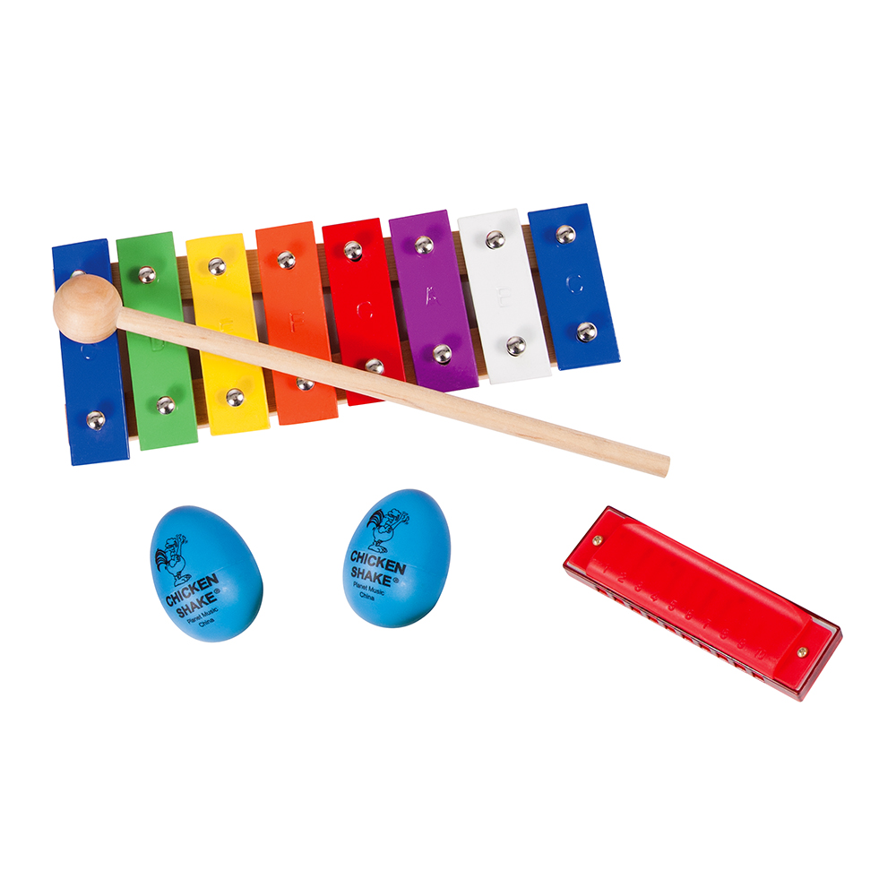 Percussion Pack: Glockenspiel, Harmonica, Shakers