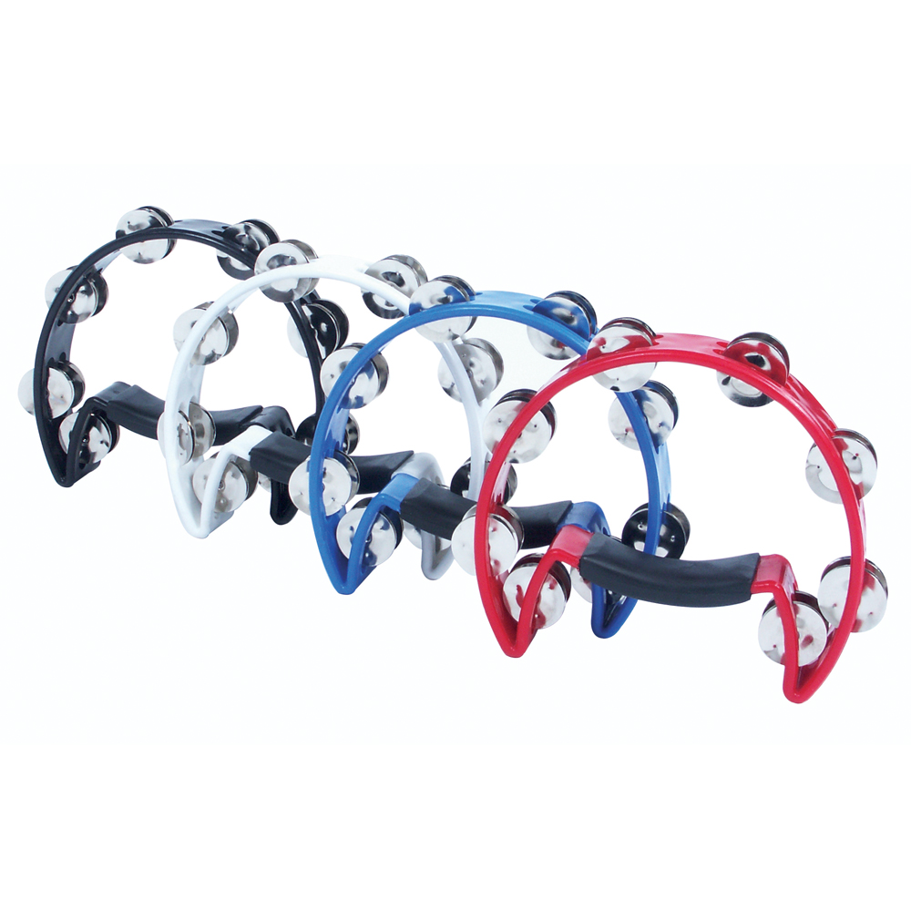 Performance Percussion 1/2 Moon Tambourine- Black