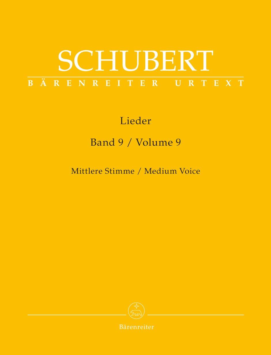 Lieder, Vol. 9 (New Edition) Medium Voice