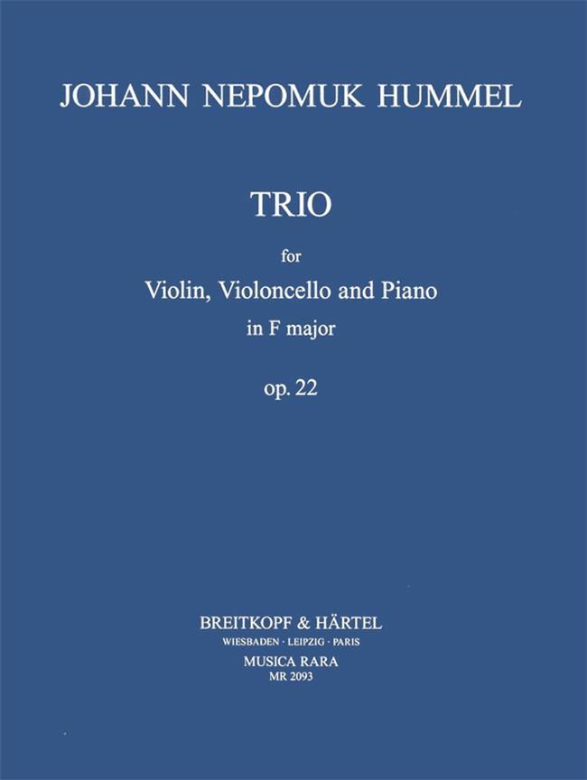 Klaviertrio F-dur op  22
