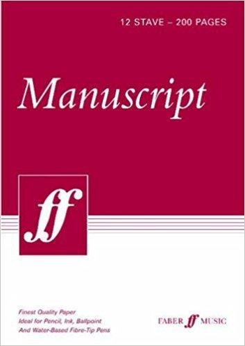 Manuscript A4 12-stave 200pp (white pad)