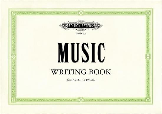 Music Writing Book (landscape 6 stave)