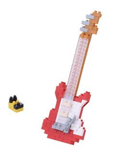 Nanoblock Electric Guitar - Red