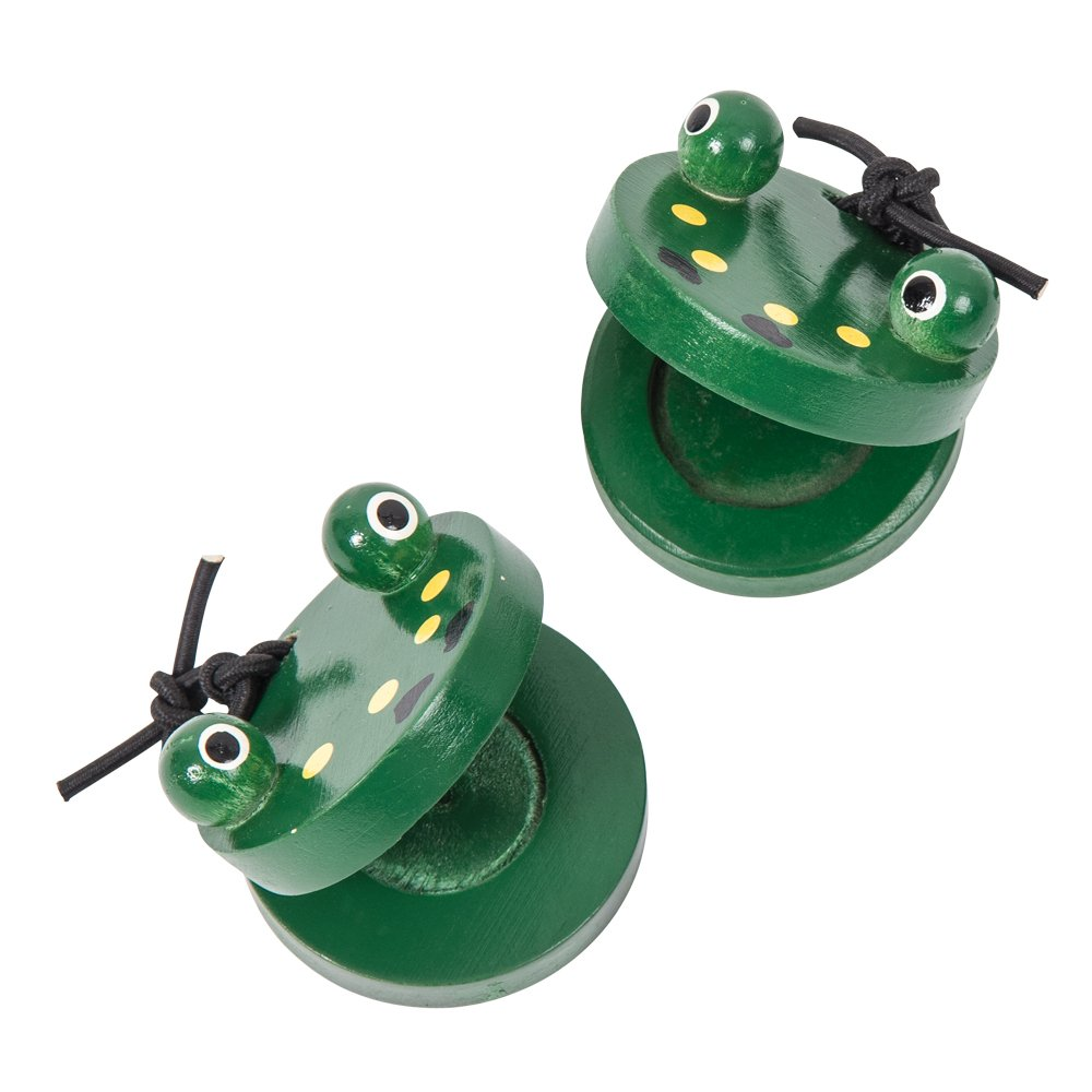 Pair of Frog Castanets - Green