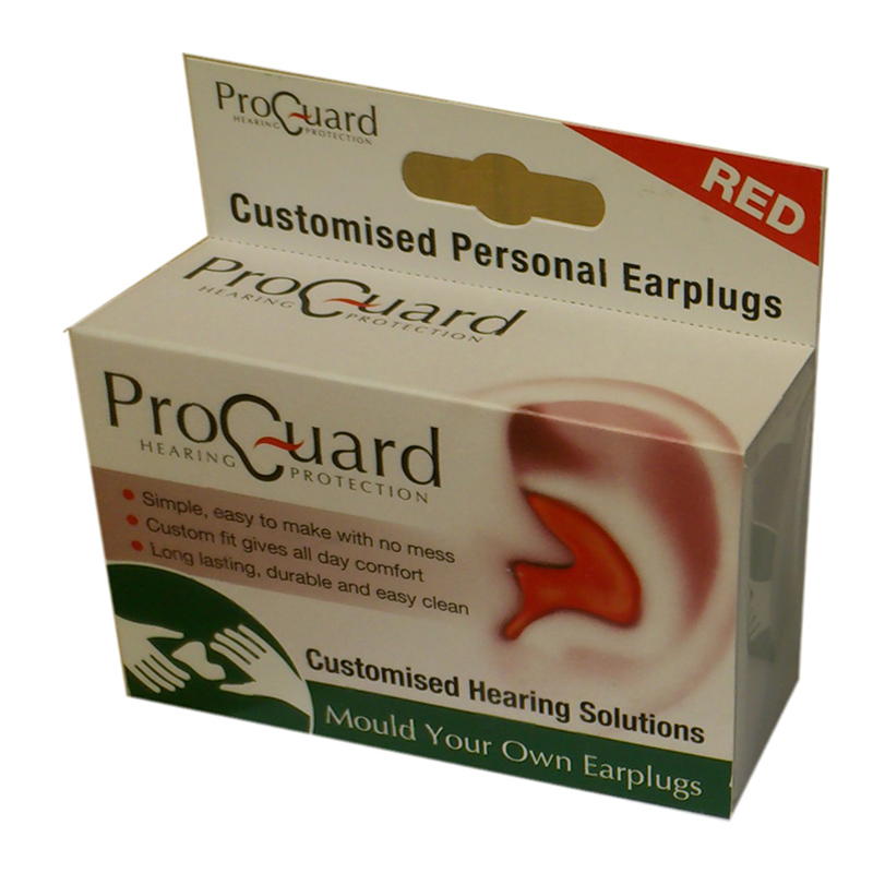 Proguard Mould Your Own Ear Plugs Red