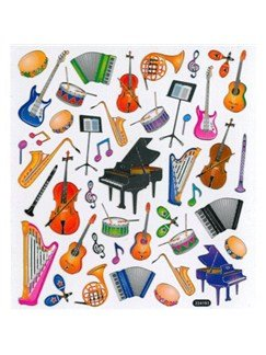 Stickers: Musical Instruments
