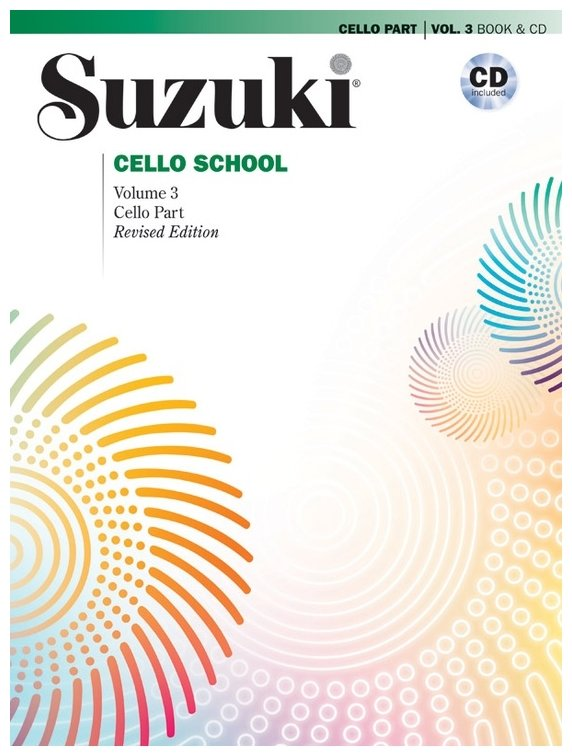 Suzuki Cello Volume 3 Cello Part With CD (revised edition)