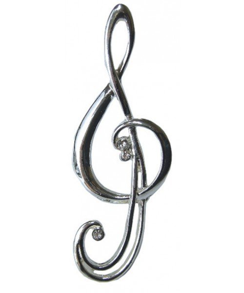 Treble Clef Brooch (with gift box)