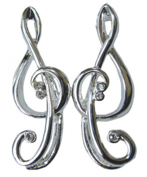 Treble Clef Earrings (with gift box)