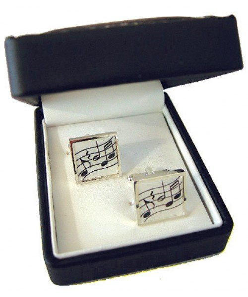 Wavy Music Silver-Plated Cufflinks